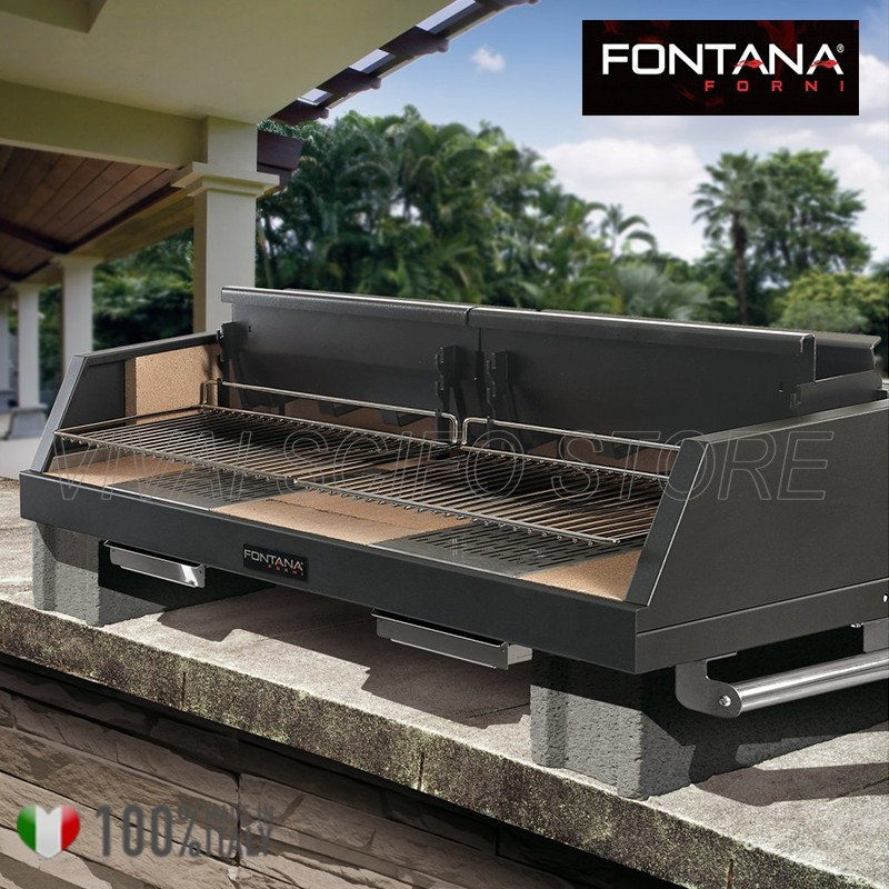 Acquista online barbecue fontana egeo da appoggio 110 for Giordano shop barbecue a gas