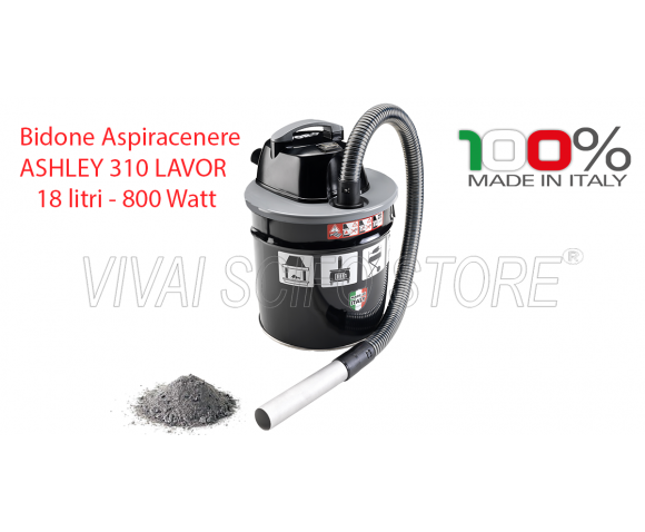 Bidone Aspiracenere Ashley 310 Lavor 18 Lt.