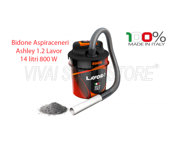 Bidone Aspiracenere Ashley 1.2 Lavor 14 Lt.