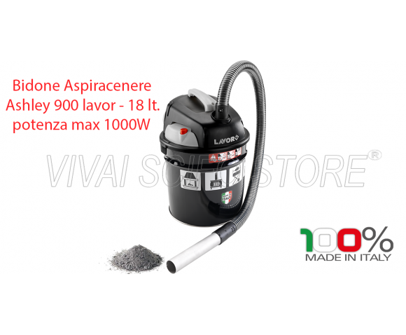 Bidone Aspiracenere Ashley 900 Lavor 18 Lt.