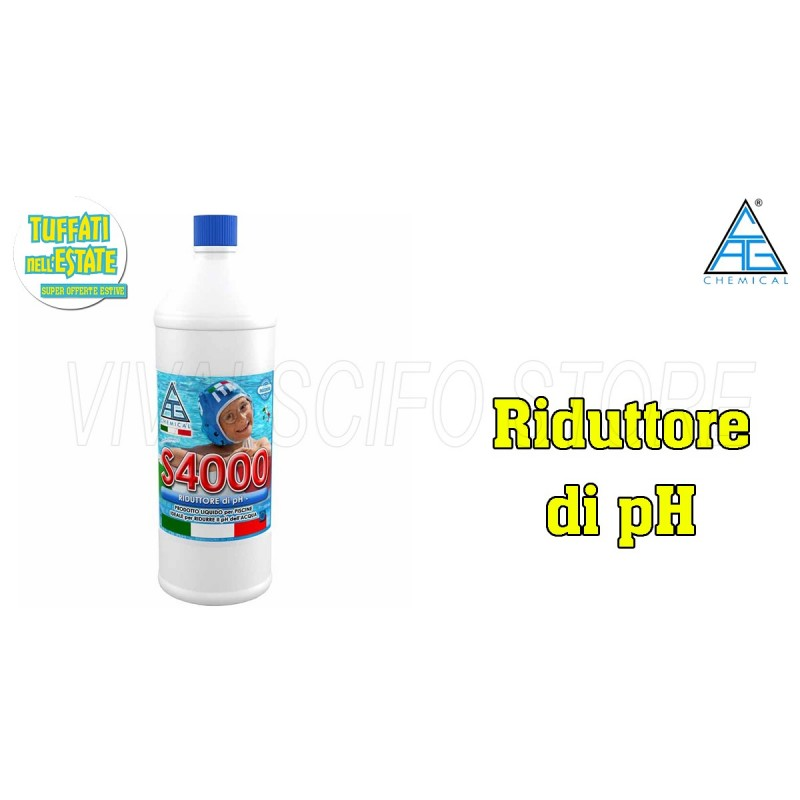 Acquista online correttore riduttore di ph s4000 per for Acqua per piscine