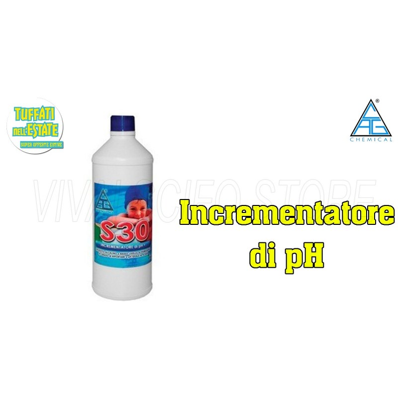 Acquista online correttore incrementatore di ph s30 per for Acqua per piscine
