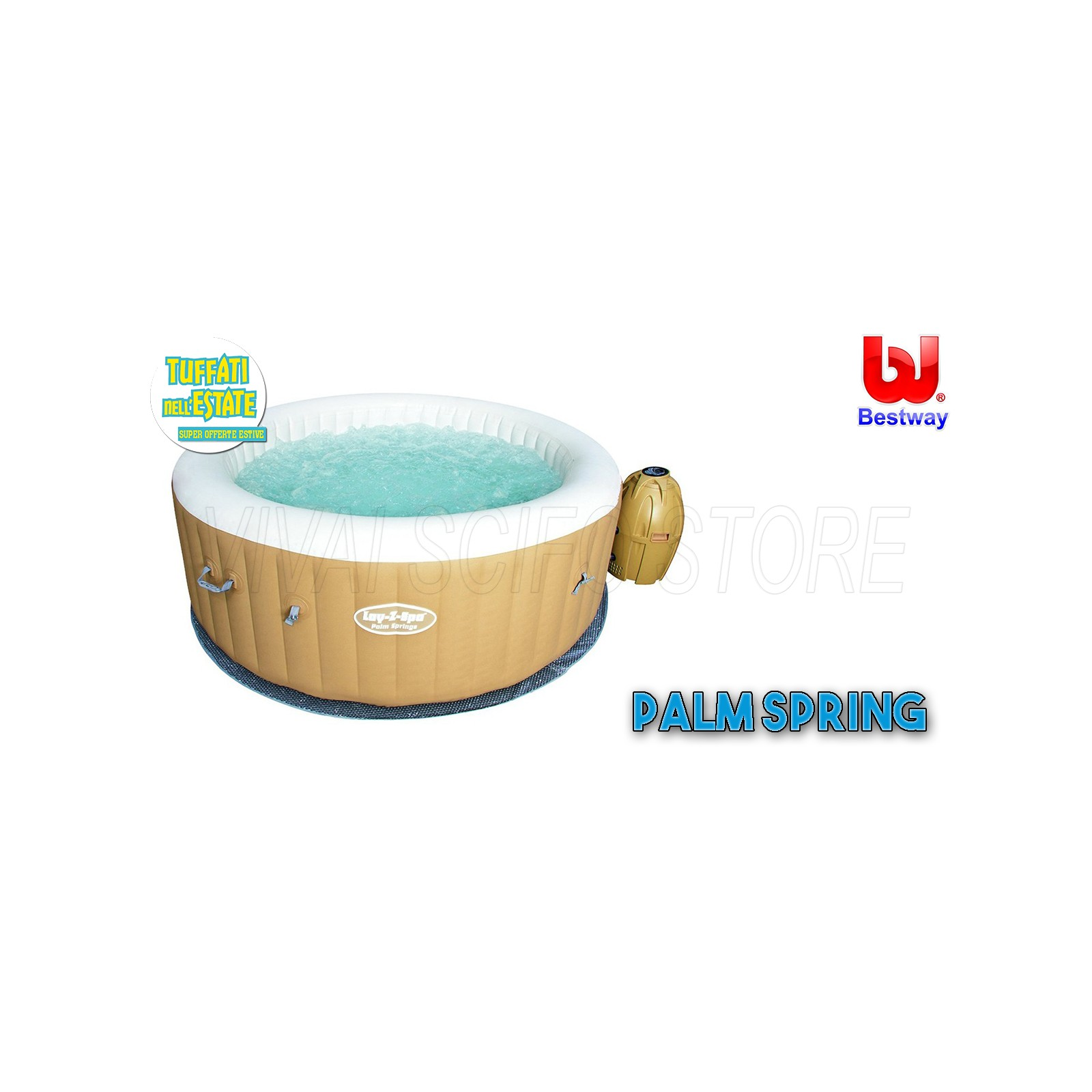 Acquista online piscina idromassaggio bestway palm springs for Piscine on line