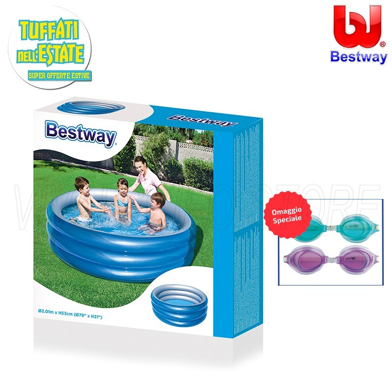 Acquista online piscina bestway gonfiabile cm 201x53h for Piscine gonfiabili on line