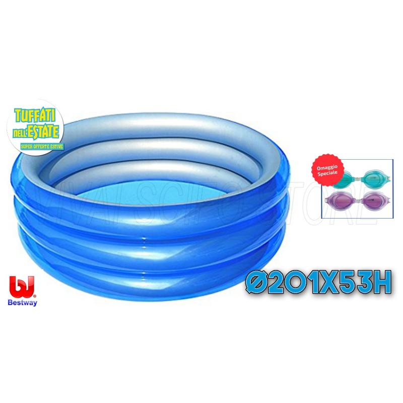 Acquista online piscina bestway gonfiabile cm 201x53h for Piscine on line