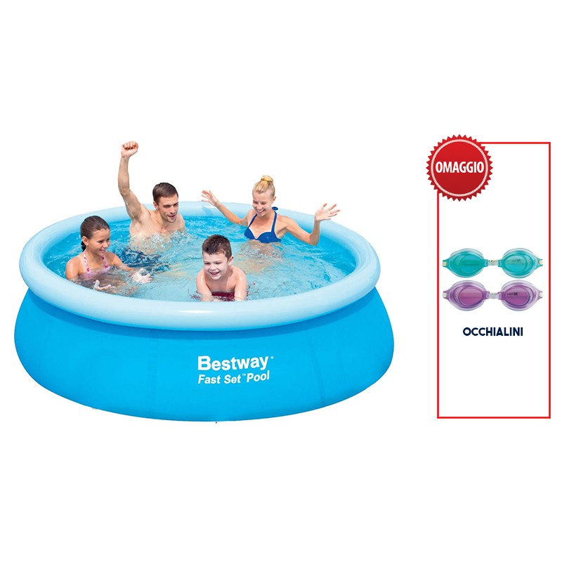 Piscina online acquista online piscina bestway rotonda for Interrare piscina intex